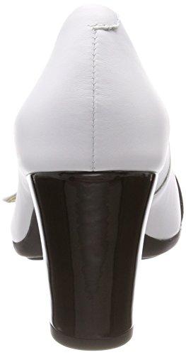 Geox D Annya Spuntato C Scarpe Col Tacco Punta Aperta Donna Bianco white black