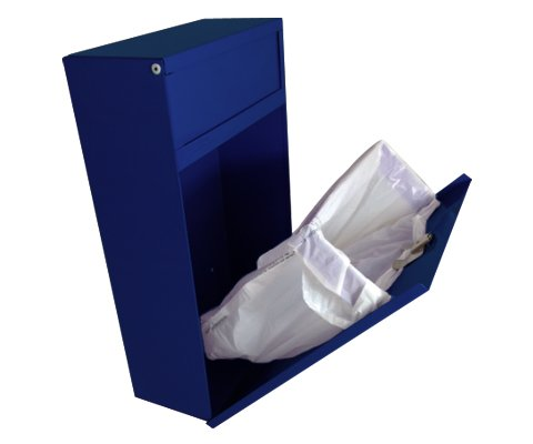 Sanitary Napkin Disposal Receptacle (Blue) by S.A.C. Socially Acceptable Containment