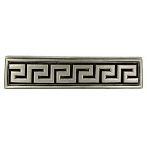 Anne at Home 7256-20 Greek Key Olympia 3 in. Center to Center Pull in Satin Pewter