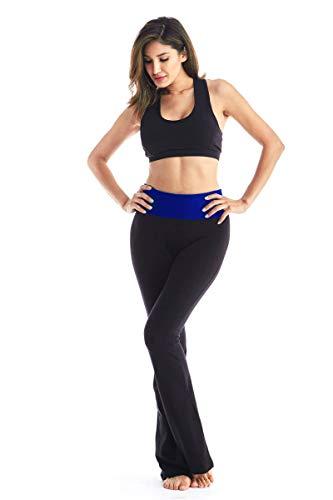 Viosi Yoga Pants for Women Premium 250gsm Fold Over Cotton Spandex Lounge Bootcut Pants
