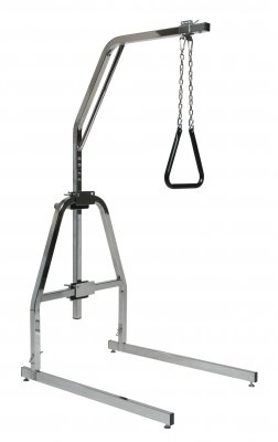 (Lumex Versa-Helper Bariatric Trapeze with Floor Stand, 600lb Weight Capacity, Chrome, 2960B)