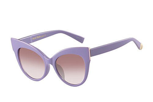 Oversized Cat Eye Frame UV400 Womens Sunglasses , Black Fashion Trend Eyewear - Sunglasses Purple Frame