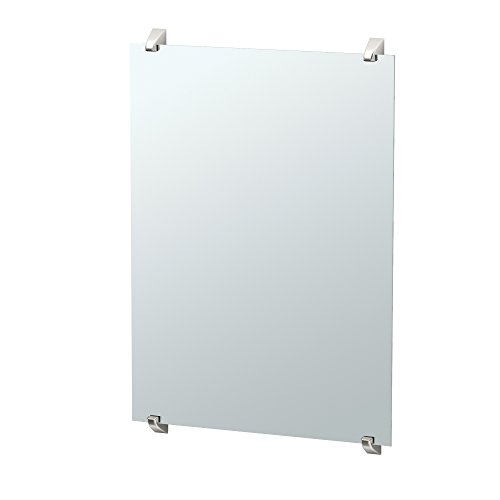 Gatco 1584 Quantra Minimalist Bathroom Fixed Mounted Mirror, 30 , Satin Nickel