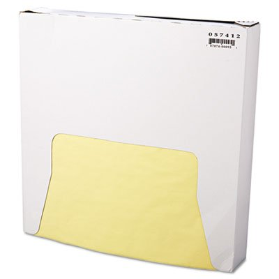 Grease-Resistant Wrap/Liner, 12 x 12, Yellow by Bagcraft Papercon
