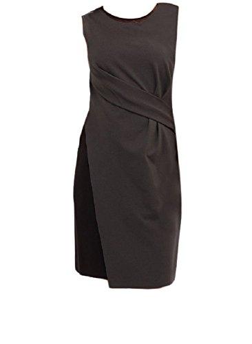 Elie Tahari Bennett Charcoal Black Ruched Dress (2)