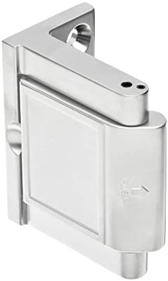 "Pemko Privacy Door Latch, Polished Chrome finish, 1-1/2"" x 2-3/4"" Width, 2-3/16"" Height"