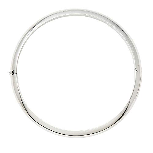 - LooptyHoops Sterling Silver Classic Round-Edged Hinged Bangle Bracelet, (66.0)