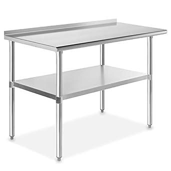 Amazon.com: Mesa de cocina comercial de trabajo y ...