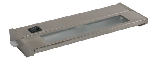 American Lighting 043X-1-BS Priori Xenon Under Cabinet Hardwire Light, 20-Watts, Hi/Low/Off Switch, 120-Volt, 10-Inch, Brushed Steel ()