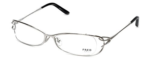 Fred Eyeglasses Frames - Fred Lunettes Designer Optical Eyeglasses FLB10264 Volute in Platinum N1 002 Made in France 53mm DEMO LENS