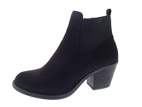 stivaletti grande tacco con Lora donna Chelsea Dora caviglia Nero altezza da alla 0nqqwg5Y