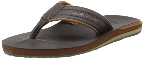 Quiksilver boys Carver Nubuck Youth Sandal, Demitasse Solid, 11 M US Little Kid