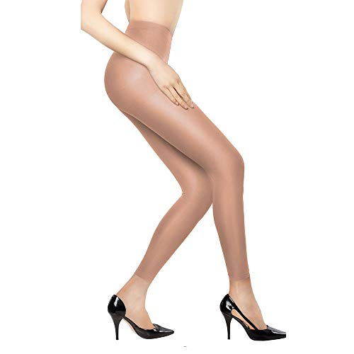 +MD Women's 8-15mmHg Graduated Compression Leggings Medical Quality Ladies Footless Support Tights Nudes ()