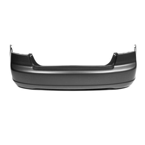 CarPartsDepot, 4D Rear Bumper Cover Assembly Unpainted Primed Black Plastic New, 352-20164-20-PM HO1100200 04715S5AA90ZZ