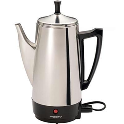 WalterDrake Presto 02811 12 Cup Stainless Steel Coffee Maker, CHROME by WalterDrake