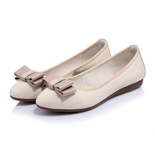 apricot Shoes Pumps Solid Bows Womens BalaMasa Urethane Travel APL10806 g8OqYgwv