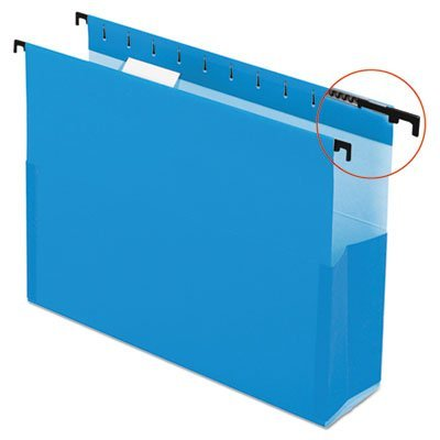 SureHook Reinforced Hanging Box Files, 2'''' Exp with Sides, Letter, Blue, 25/Box, Sold as 25 Each by Pendaflex