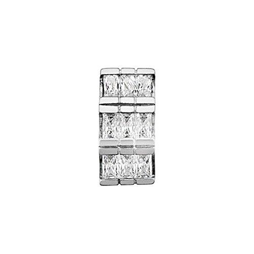 Pendentif 18k White Gold jimmies 4mm. zircons [AA4631]