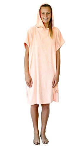 GetBacktoBasix Surf Poncho Microfiber Hooded Robe Towel - Peach