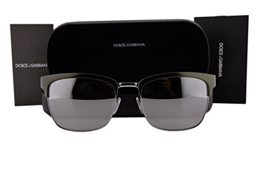 Dolce & Gabbana DG2148 Sunglasses Matte Green Gunmetal w/Light Gray Mirror Silver Lens 12796G DG 2148