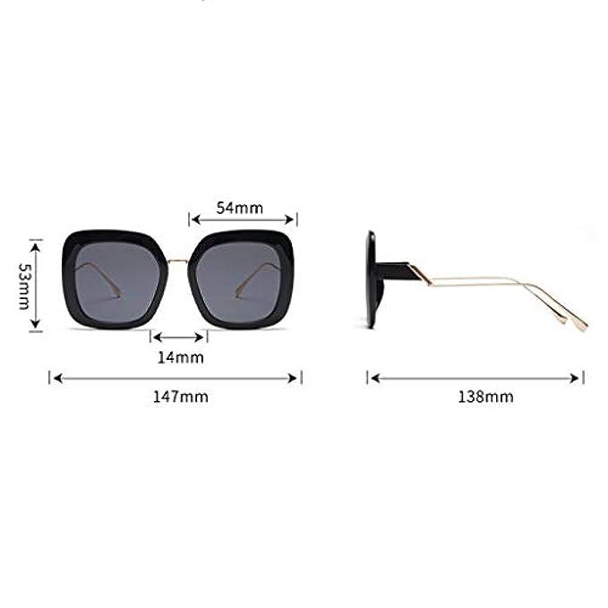 Protezione Hunpta Alla Unisex Da Dalle Occhiali Vintage - Radiazioni Stile Con Sole Grande Montatura Moda