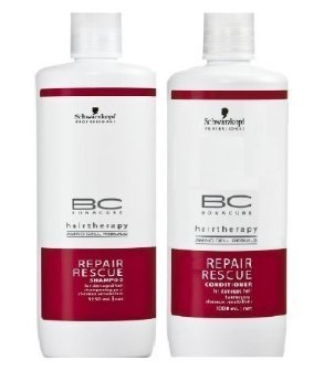 Price comparison product image Schwarzkopf Bonacure Repair Rescue Shampoo and Conditioner Liter Duo Set (33....