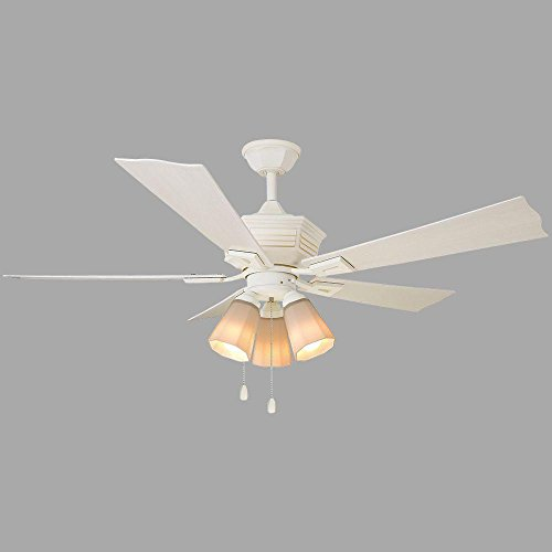 Home Decorators Collection Pembroke 52 in. Indoor/Outdoor white Ceiling -