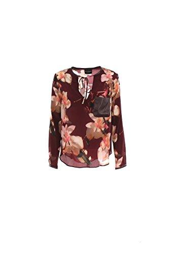 Camicia Donna Atos Lombardini 46 Bordeaux P06031 Autunno Inverno 2016/17