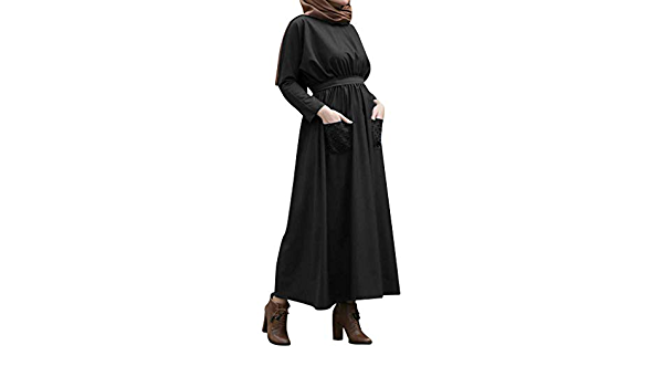Musulmán Islámica Abaya,Ropa Muslmana Mujer Maxi Vestidos ...