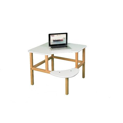 Adventure Series 23'' Children's Corner Writing Desk Edge Trim Color: White, Surface Color: White by Wild Zoo