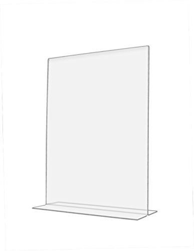"Marketing Holders Clear Acrylic 6""W x 8""H Bottom Loading, Double-sided Table Sign Holder for Restaurants, Retail Stores and Offices (24, 8.5 x 11) by Marketing Holders"