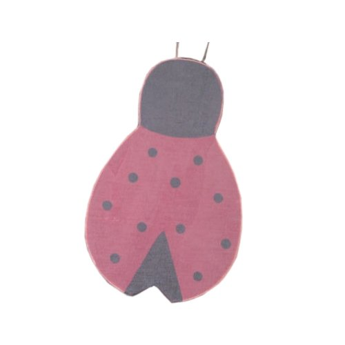 Green Pastures Wholesale Red and Black Wood Lady-Bug Garden Stake, 17-Inch