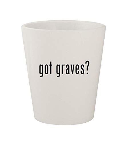 Mug Michael Graves Glass - got graves? - Ceramic White 1.5oz Shot Glass
