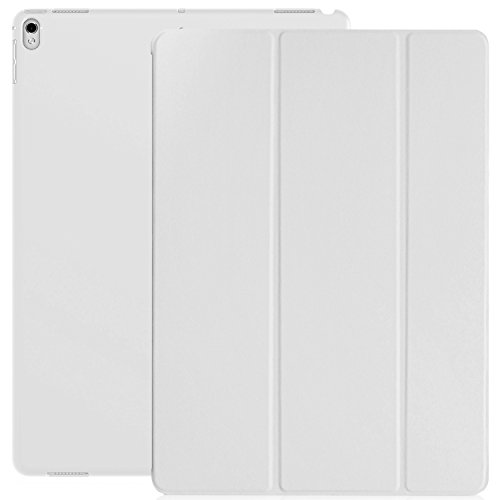 White Back Case - KHOMO iPad Pro 12.9 Inch Case - 2017 Version - Dual White Super Slim Cover with Rubberized Back and Smart Feature (Built-in Magnet for Sleep/Wake Feature)