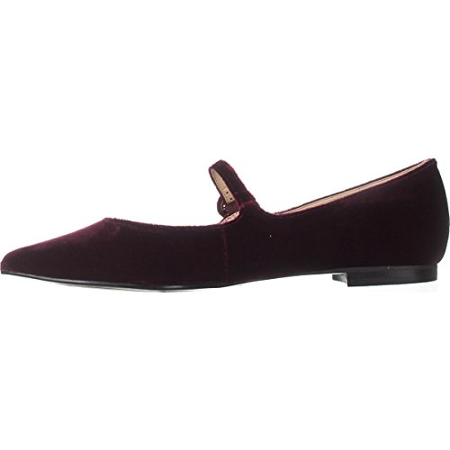 Fabric Red Stormy2 Dark Pointed Womens Fisher Jane Mary Toe Marc Flats vwqa7nztWE