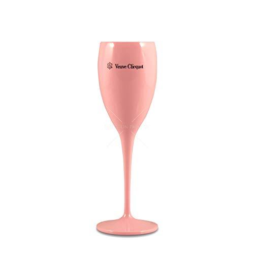 Veuve Clicquot Pink Rose Plastic Acrylic Flute Glass