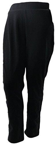 Lane Bryant Women's Pants Floral Embroidered Seams Black Plus Size Skinny 28