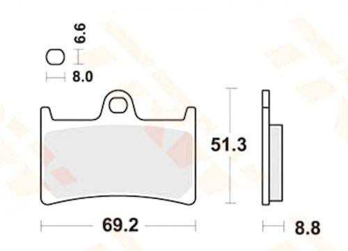 organische Bremsbeläge Lucas MCB611 Yamaha FZ1 1000 S SA  RN16 Fazer auch ABS