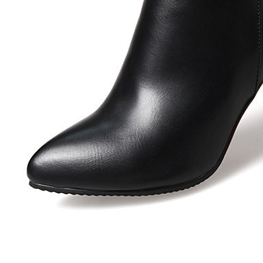 mariage amphibiens simili la hiver à femme automne stilettonero Soirée à formelle cuir bottes et cheville DESY pour Casual Fête noir bottines 8wF07Fq