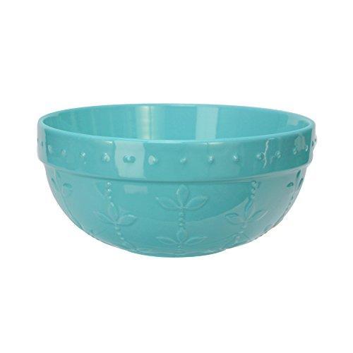 Signature Housewares Sorrento Collection Mixing Bowl, Antiqued Finish (Medium, Aqua)
