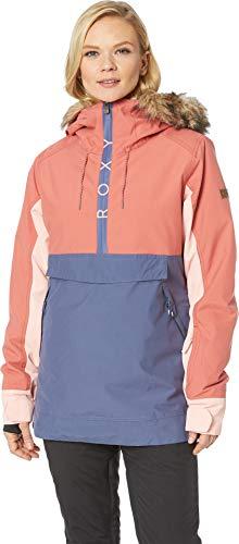- Roxy Snow Junior's Shelter Snow Jacket, Dusty Cedar, L