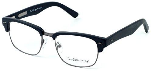 Ernest Hemingway 4629 Designer Eyeglasses in Matte Black & Gunmetal ; DEMO -