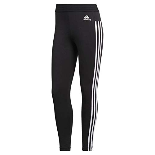 adidas Women's Essentials 3-stripes Tights, Black/White, Medium