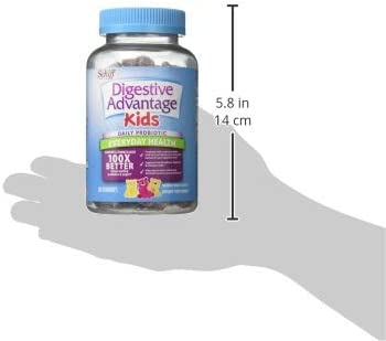 318OdQIpmjL. AC - Digestive Advantage Daily Probiotic Gummy For Kids, 80 Count (Pack Of 1), Multi