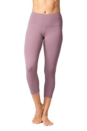 Yogalicious High Waist Ultra Soft Lightweight Capris – High Rise Yoga Pants – Tayo Yam – Small