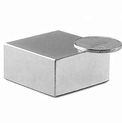 "SUNKEE Block 40x40x20mm N52 Super Strong Rare Earth magnets Neodymium Magnet 1.57 ""x1.57 ""x 4/5 """