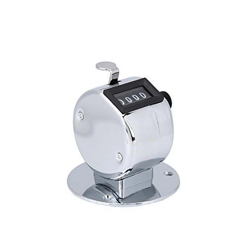 Hand Tally Counter, Portable Mini Metal Digital Handheld Hand Tally Counter with A Ring for Sports Games Golf, Offers A 4-Figure Register, Counts to 9,999