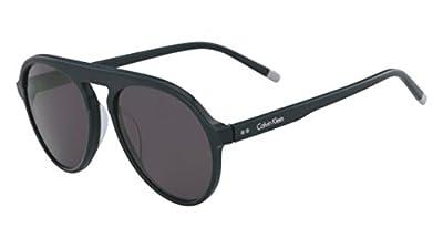 Calvin Klein Men's Ck4350s Round Sunglasses, Dark Green, 56 mm