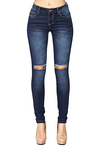 - Blue Age Women's Butt-Lifting Ripped Skinny Jeans (JP1089_DK_3)