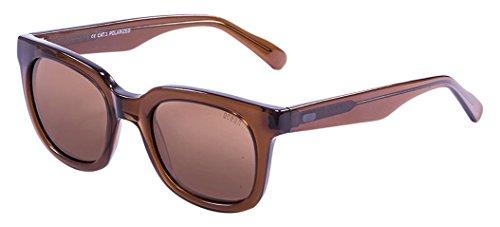 Ocean Sunglasses San Clemente Lunettes de Soleil Mixte Adulte, Dark Brown Transparent/Brown Lens